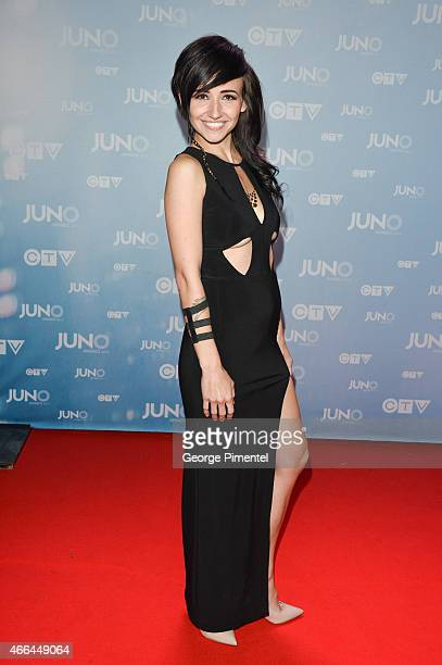 LIGHTS arrives at the 2015 Juno Awards at the FirstOntario Centre on March 15 2015 in Hamilton Canada