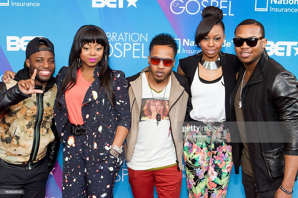 LIVRE arrives at the BET Network's 13th Annual 'Celebration of Gospel' at Orpheum Theatre on March 16, 2013 in Los Angeles, California.
