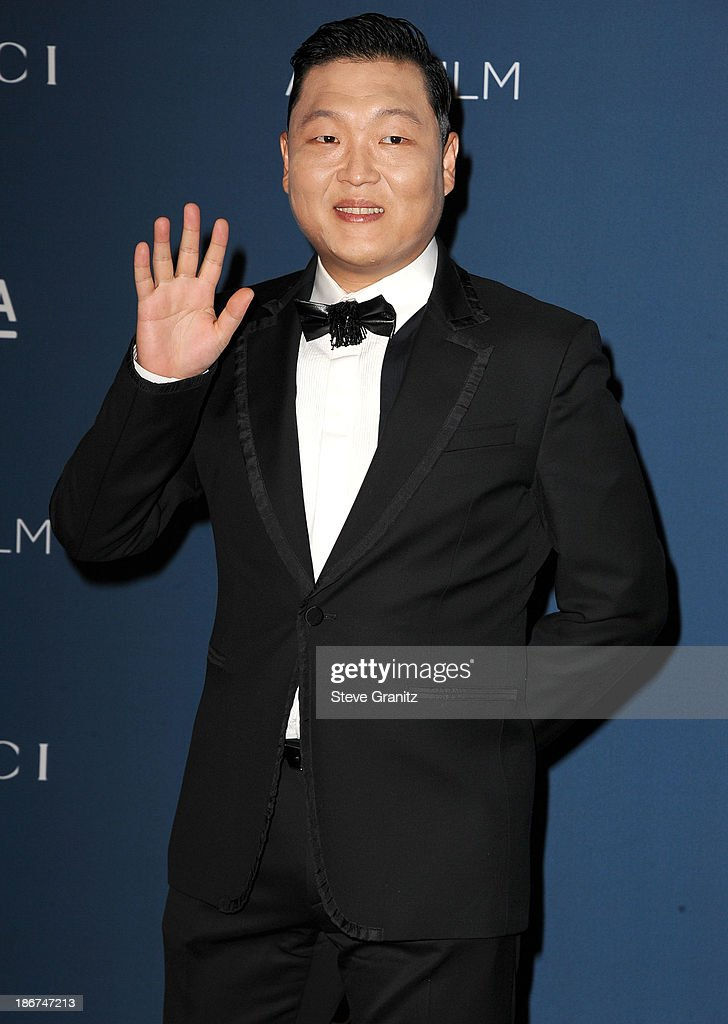 PSY arrives at the LACMA 2013 Art + Film Gala at LACMA on November 2, 2013 in Los Angeles, California.