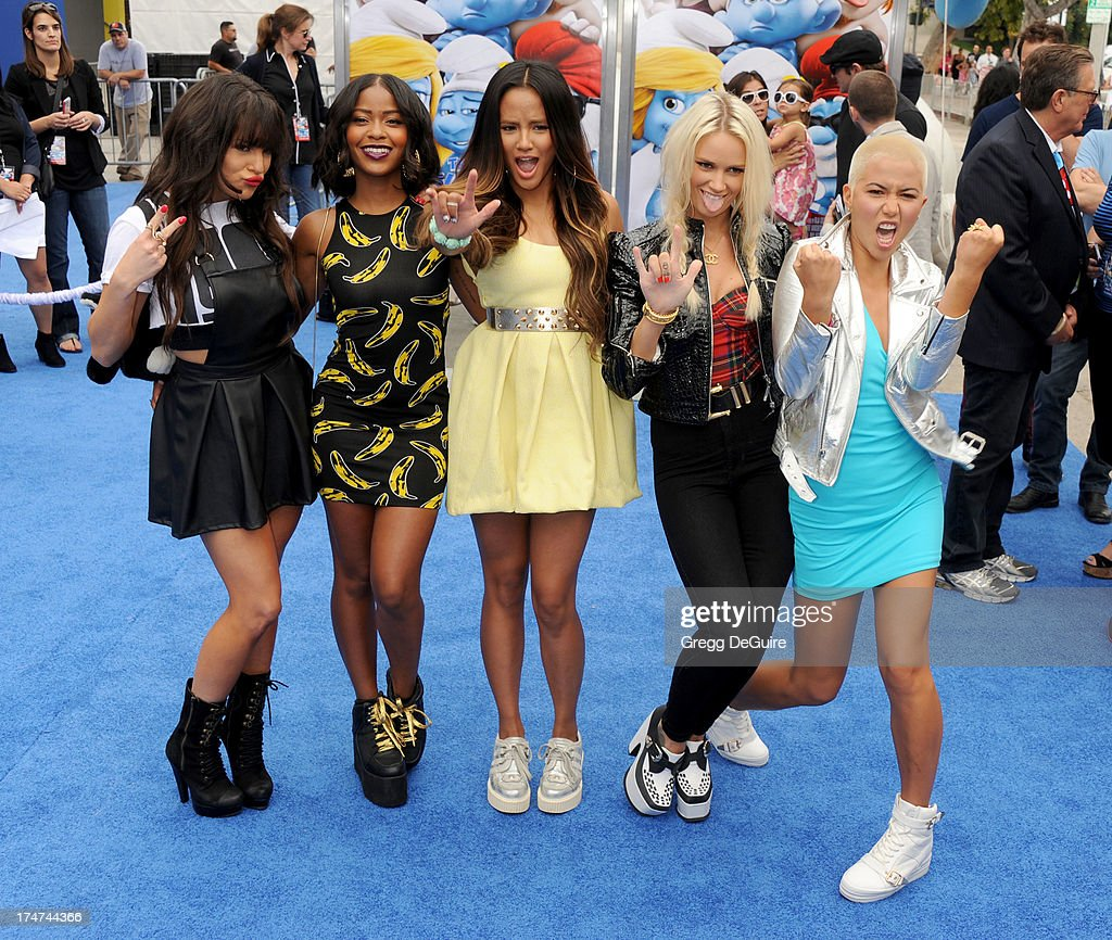 G.R.L. arrives at the Los Angeles premiere of 'Smurfs 2' at Regency Village Theatre on July 28, 2013 in Westwood, California.
