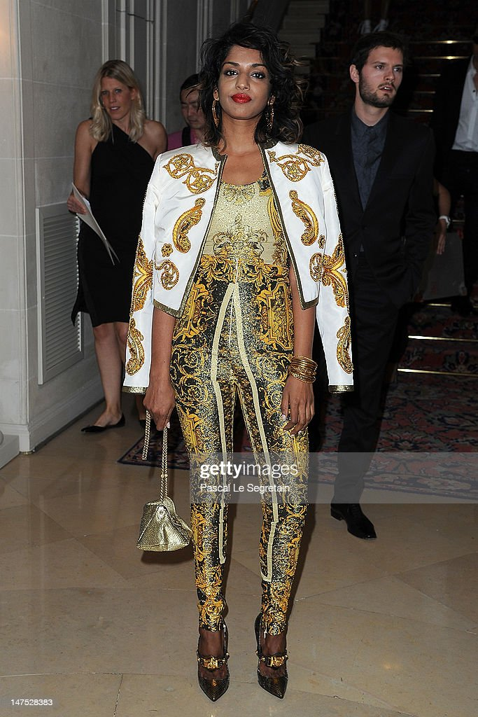 A arrives at the Versace Haute-Couture show as part of Paris Fashion Week Fall / Winter 2012/13 at the Ritz hotel on July 1, 2012 in Paris, France.