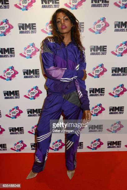 A arrives at the VO5 NME awards 2017 on February 15 2017 in London United Kingdom