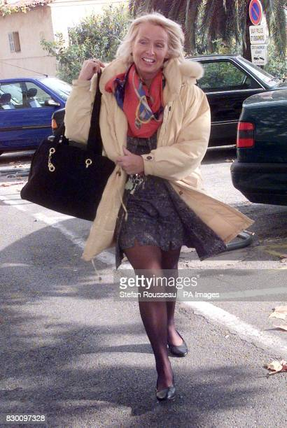 Arriving at the Palais de Justice in Grasse southern France today Judge Dominique HaumantDaumas who will decide on the judgement of former England...