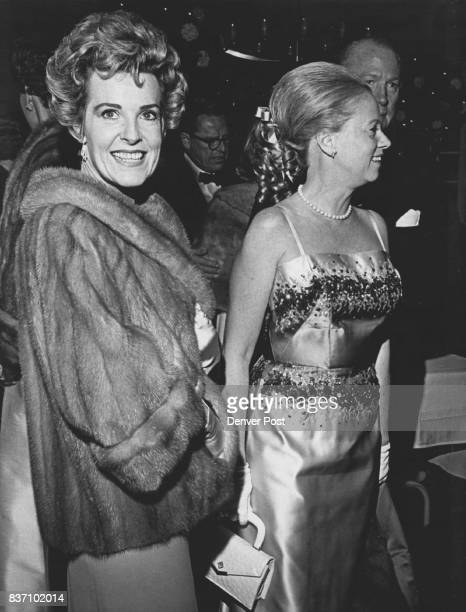 Arriving for the gala autumn ball at the Denver Country Club are Mrs Lewis Hayden left and Mrs John Foster Annual ball is highlight of the club's...