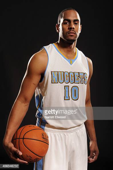 Arron Afflalo of the Denver Nuggets poses for a photo during media day on September 29 2014 at the Pepsi Center in Denver Colorado NOTE TO USER User...