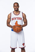 Arron Afflalo of the New York Knicks poses for a portrait at Media Day at the MSG Training Facility in Greenburgh New York on September 28 2015 NOTE...