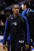 Arron Afflalo of the Orlando Magic at American Airlines Center on February 20 2013 in Dallas Texas NOTE TO USER User expressly acknowledges and...