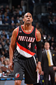 Arron Afflalo of the Portland Trail Blazers looks on against the Brooklyn Nets at Barclays Center on April 6 2015 in Brooklyn New York NOTE TO USER...