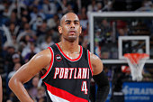 Arron Afflalo of the Portland Trail Blazers looks on during the game against the Sacramento Kings on March 1 2015 at Sleep Train Arena in Sacramento...