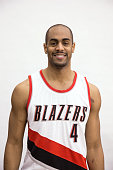 Arron Afflalo of the Portland Trail Blazers poses for a photo on February 21 2015 at the Trail Blazer Practice Facility in Portland Oregon NOTE TO...