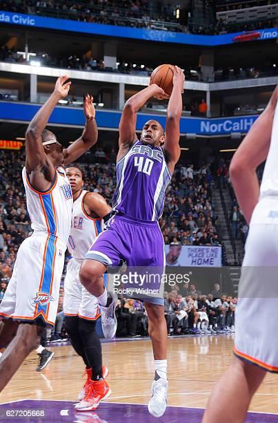 Arron Afflalo of the Sacramento Kings shoots against the Oklahoma City Thunder on November 23 2016 at Golden 1 Center in Sacramento California NOTE...