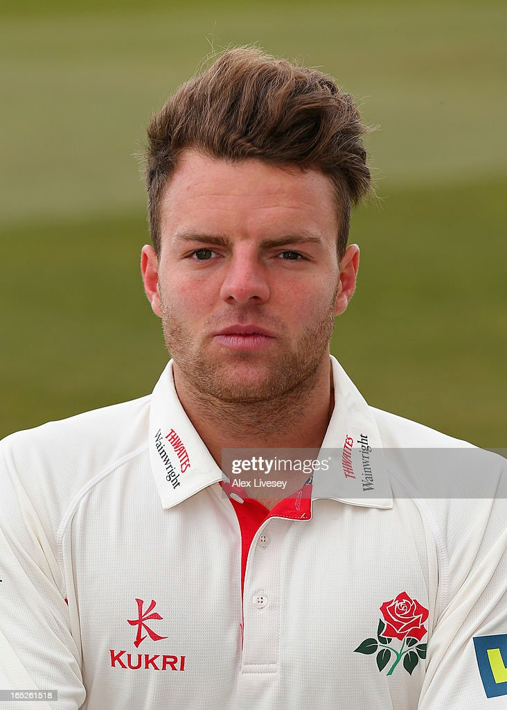 Arron Lilley of Lancashire CCC during a pre-season photocall at Old Trafford on April 2, 2013 in Manchester, England.