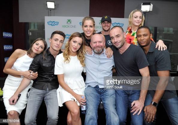 'Arrow' actors Willa Holland Colton Haynes Katie Cassidy Emily Bett Rickards Executive Producer Marc Guggenheim actors Stephen Amell Paul Blackthorne...