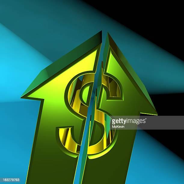 Arrow Dollar sign going up
