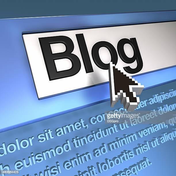 Pfeil auf dem blog