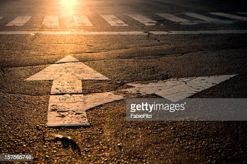arrow on road