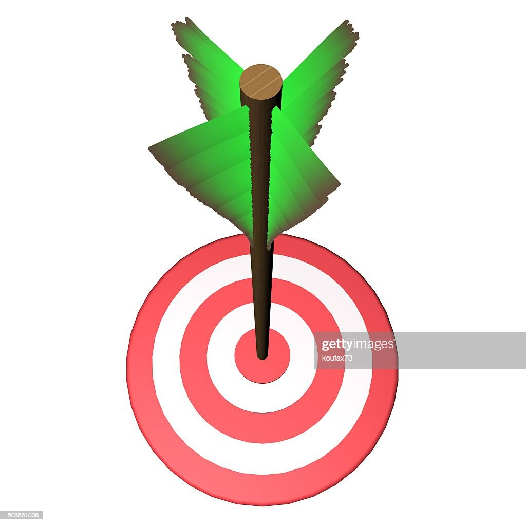 Arrow on target : Stock Photo