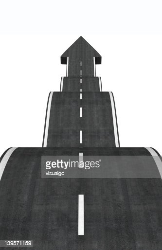 arrow road : Stock Photo