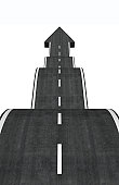 creative arrow asphalt road.