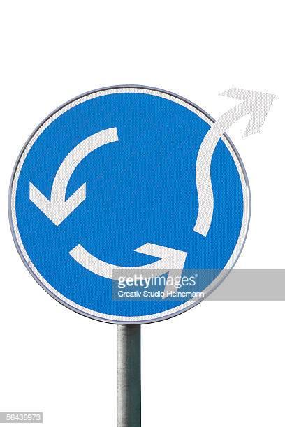 Arrow sign, close-up