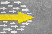 Arrows Leadership Concept