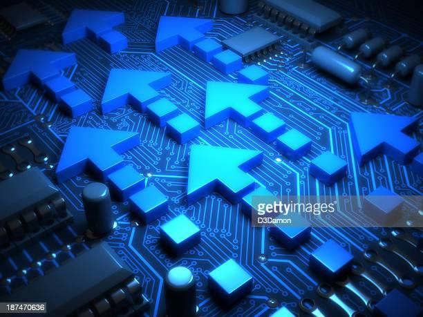 Arrows on motherboard