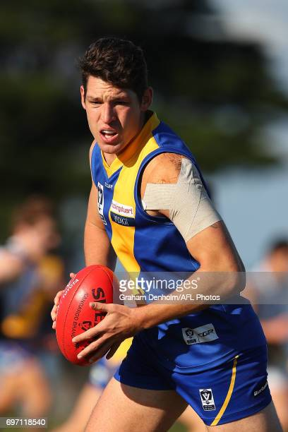 Arryn Siposs of Williamstown in action during the round nine VFL match between Williamstown and North Ballarat at Burbank Oval on June 18 2017 in...