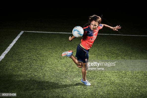 Arsenal and England footballer Alex Scott is photographed for the Guardian on July 23 2015 in London England