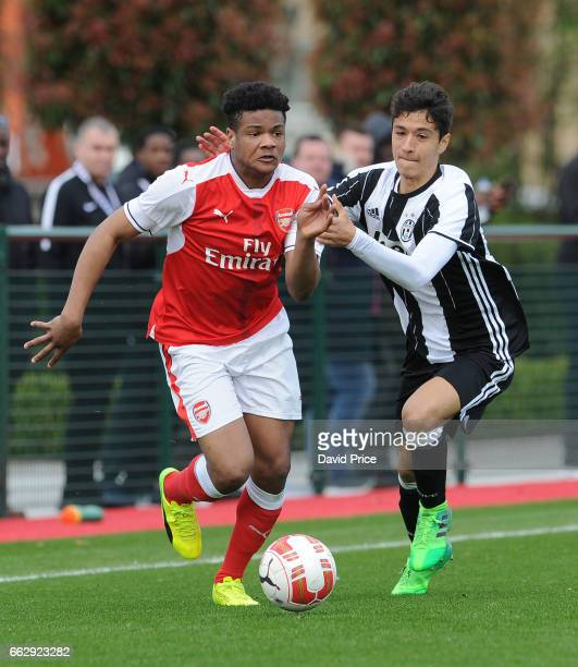 Arsenal and Juventus in the Liam Brady Cup on April 1st 2017 in Walthamstow England