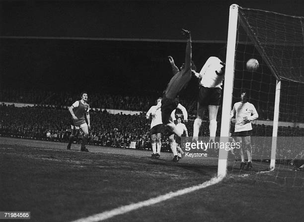 Arsenal beat Tottenham Hotspur 01 in the Football League championship final at White Hart Lane 3rd May 1971 Ray Kennedy scores the match's only goal...