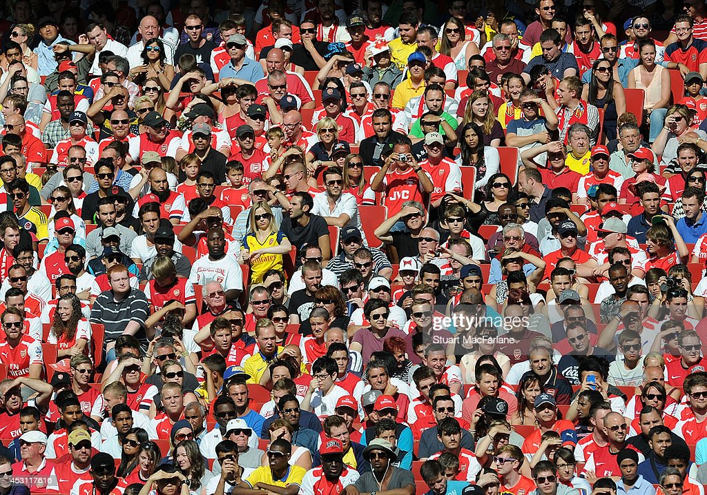 Arsenal fans during the Emirates Cup match between Arsenal and AS Monaco at Emirates Stadium on August 3, 2014 in London, England.