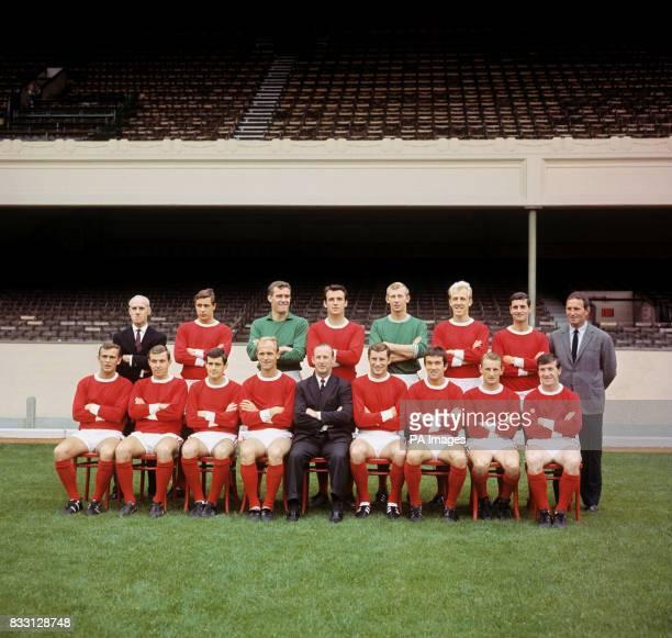Arsenal Fc at Highbury London Left to right back row B Owen John Radford Jim Furnell Alan Skirton Bob Wilson Ian Ure Frank McLintock Dave Sexton...
