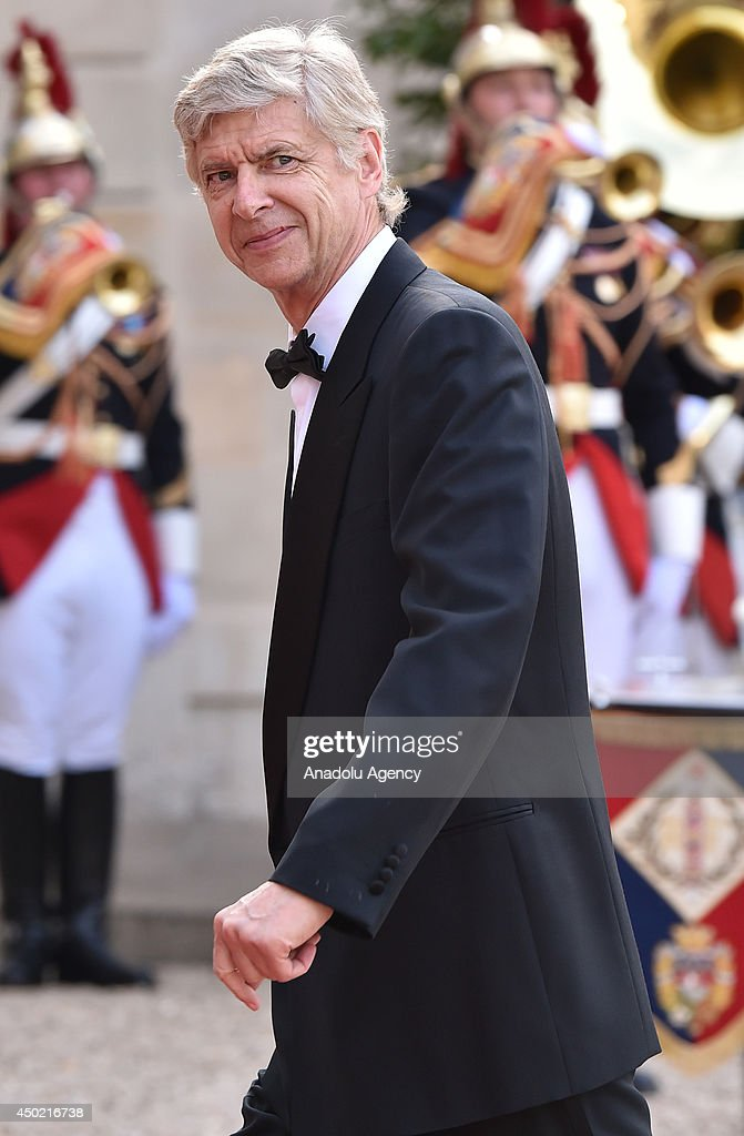 Arsenal FC Club manager Arsene Wenger arrives to the Elysee Palace for the State dinner in honor of the Queen hosted by French President Francois Hollande in Paris, France on 6 June, 2014.