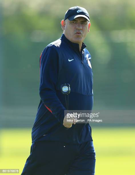 Arsenal First Team coach Boro Primorac during a training session at London Colney St Albans