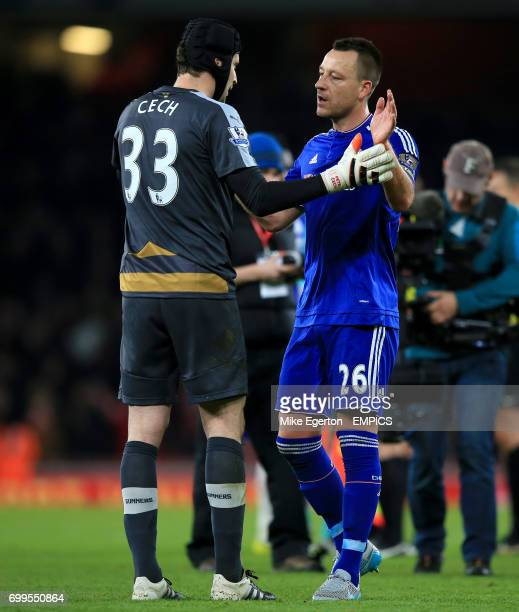 Arsenal goalkeeper Petr Cech and Chelsea's John Terry after the game