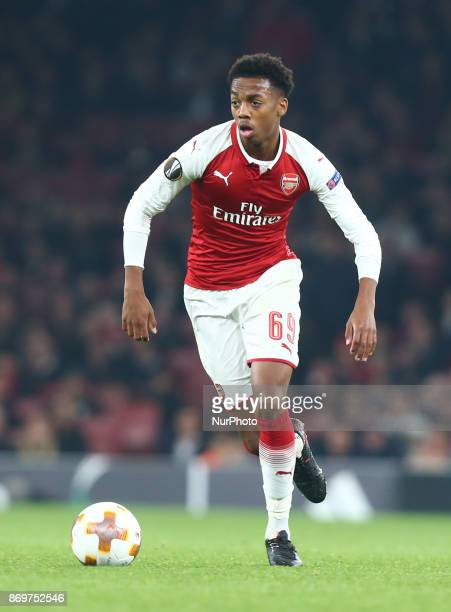 Arsenal Joseph Willock during UEFA Europa League Group H match between Arsenal and Red Star Belgrade at The Emirates London 2 Nov 2017