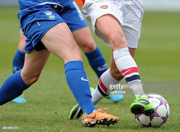 Arsenal Ladies and Birmingham City Ladies action during the match between Arsenal Ladies and Birmingham City Ladies in the UEFA Womens Champions...