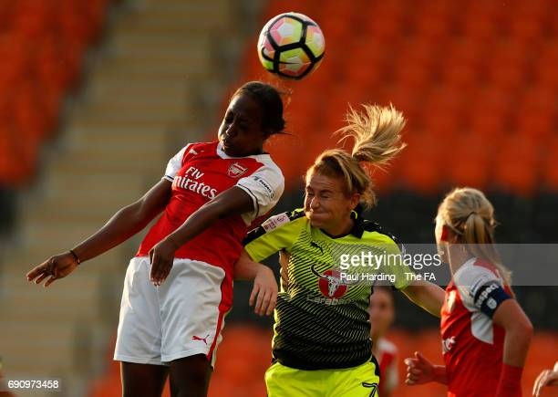 Arsenal Ladies' Danielle Carter Reading Ladies' Rachel Furness at The Hive on May 31 2017 in Barnet England