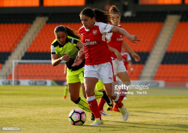 Arsenal Ladies' Danielle van de Donk Reading Ladies' Anissa Lahmari at The Hive on May 31 2017 in Barnet England