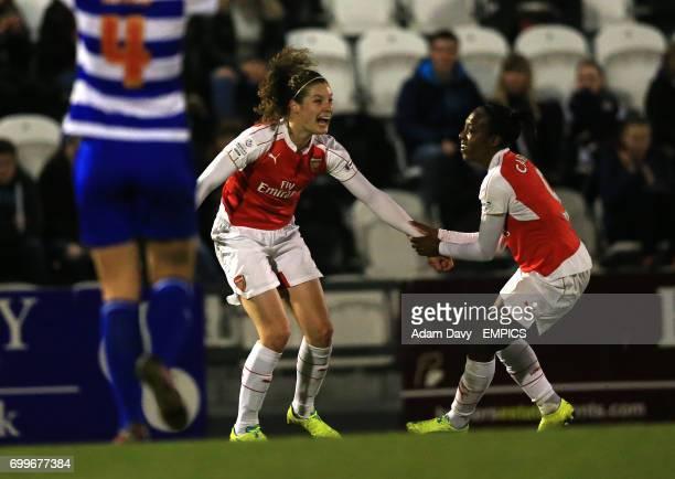 Arsenal Ladies' Dominique Janssen celebrates scoring the first goal