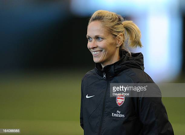 Arsenal Ladies Manager Shelley Kerr during an Arsenal Ladies Training Session at Arsenal Training Ground on March 19 2013 in St Albans Hertfordshire...