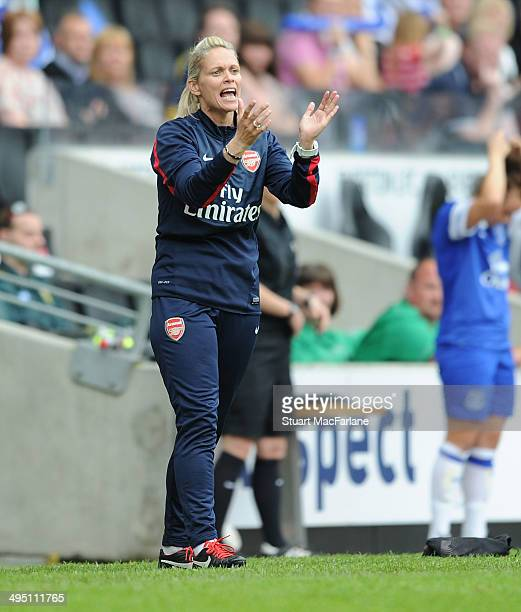 Arsenal Ladies manager Shelly Kerr during the match at Stadium mk on June 1 2014 in Milton Keynes England