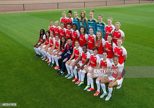 Arsenal Ladies Team Group Back row Charlotte Devlin Chiara RitchieWilliams Sian Rogers Emma Byrne Sari Van Veenendaal Hollie Augustus Rianna Dean...