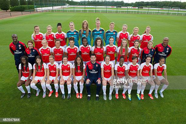 Arsenal Ladies Team Group Back row Evie Clarke Charlotte Devlin Chiara RitchieWilliams Sian Rogers Emma Byrne Sari Van Veenendaal Hollie Augustus...