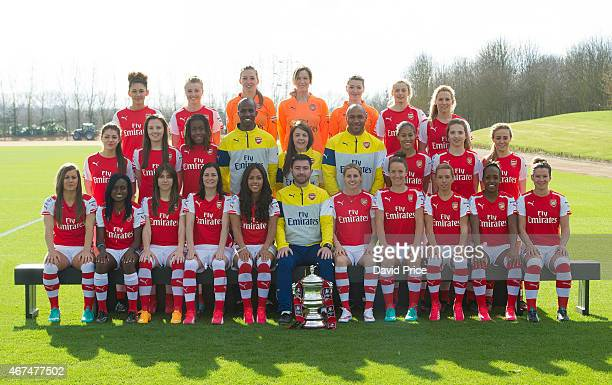 Arsenal Ladies Team Group Back row Jade Bailey Leah Williamson Siobhan Chamberlain Emma Byrne Hollie Augustus Chloe Kelly Taome Oliver Middle row...