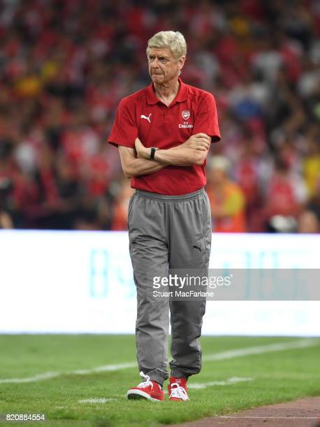 Arsenal manager Arseen Wenger during the pre season friendly between Arsenal and Chelsea at the Birds Nest on July 22 2017 in Beijing
