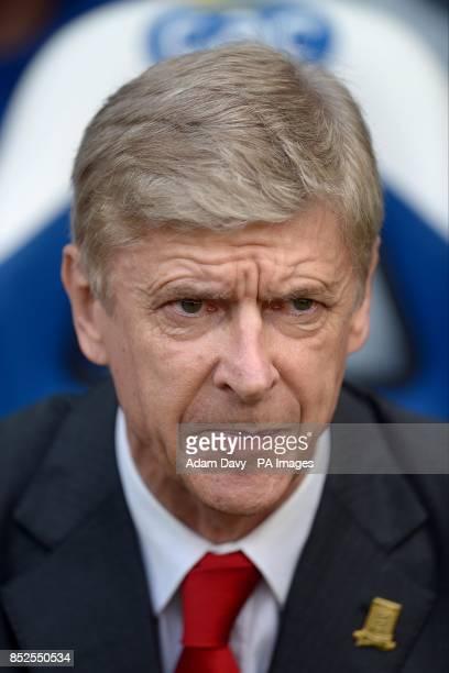 Arsenal manager Arsene Wenger before kickoff