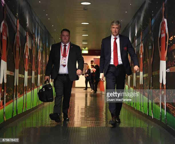 Arsenal manager Arsene Wenger before the Premier League match between Arsenal and Tottenham Hotspur at Emirates Stadium on November 18 2017 in London...