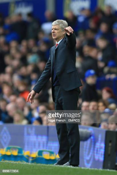 Arsenal manager Arsene Wenger directs from the touchline