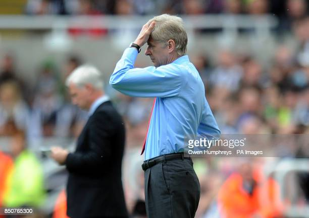 Arsenal manager Arsene Wenger during the Barclays Premier League match at St James' Park Newcastle